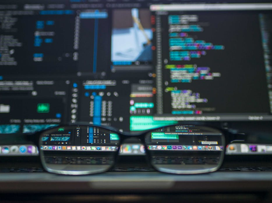 programming codes and eyeglasses
