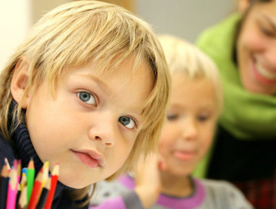young child attending a child care center