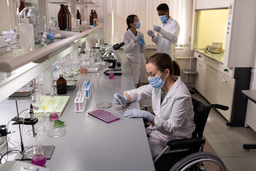 Chemists working in a compounding pharmacy in Melbourne