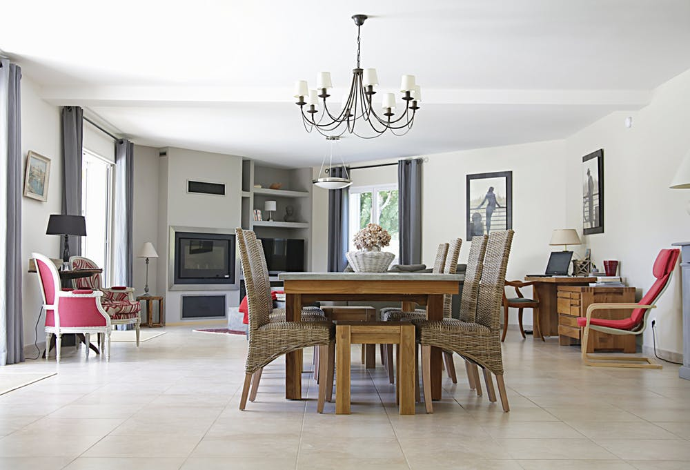 Dining area with Italian furniture in Sydney